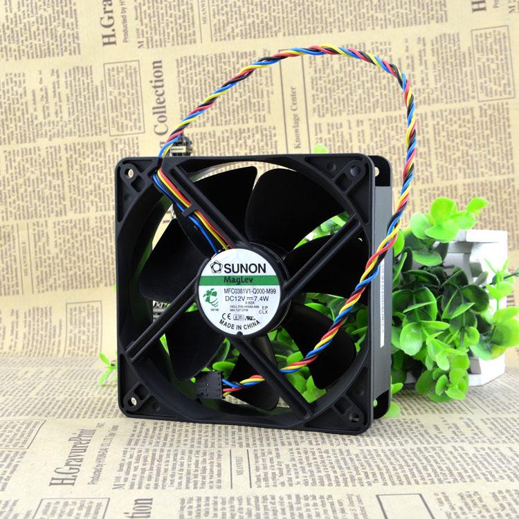 Free Shipping Original SUNON MFC0381V1 Q000 M99 12038 12cm 120mm DC 12V 7 4W desktop fan