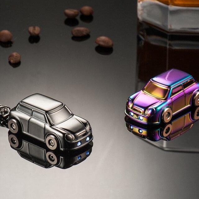 3d Car Model Metal Led Light Buckle Pendants Creative Key Chain Ring