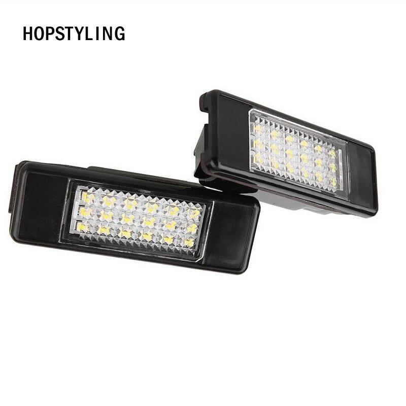 2x LED Car Rear License Plate Light for Peugeot 308 3008 406 407 508 806 106 1007 207 307 CITROEN C2 C3 C4 C5 C6 DS3