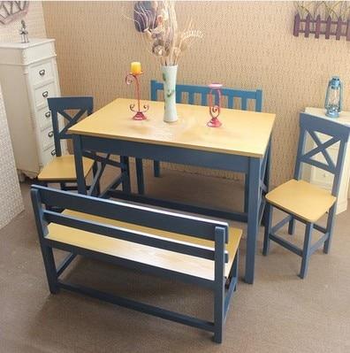 Madera pa s de am rica mesas y sillas de comedor hierro - Bancos para comedor ...