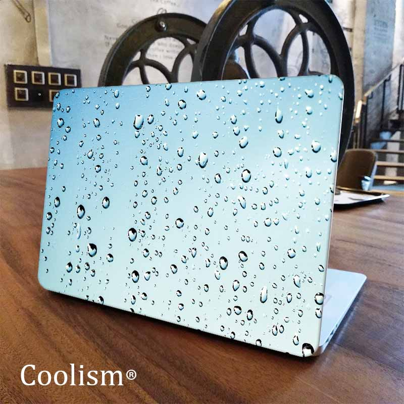 Blue Rain Water Drops Laptop Decal for Macbook Sticker Pro Air Retina 11 12 13 15 inch Mac Protective Notebook Full Cover Skin