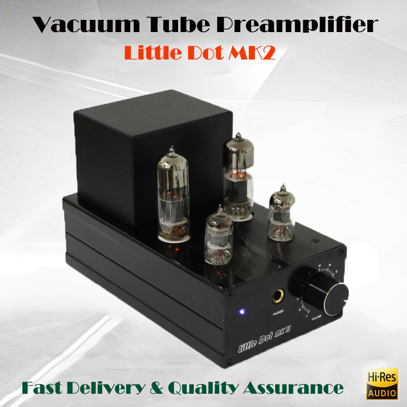 Little Dot MK2 II Vacuum Tube Headphone Amplifier 6J1 Bile Stereo Audio Preamp Amp Portable Power Amplificador Hifi Preamplifier k guss a1 mini 6j1 audio tube bile headphone amplifier ne5532 6k4 headphone amp