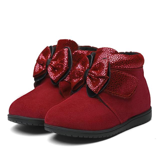 Mocasines de Gamuza invierno Cálido Botines Para Recién Nacidos de Cuero Bling Del Bebé Botines Niño Ballet Cute Baby Girl Shoes Calzado 70A1030