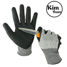 KIM YUAN Cut Resistant Gloves Mechanic General Utility Breathable Work Gloves Touch Screen,Skid/Abrasion Resistant, Pefect kim yuan 019 green garden leather work gloves anti slippery