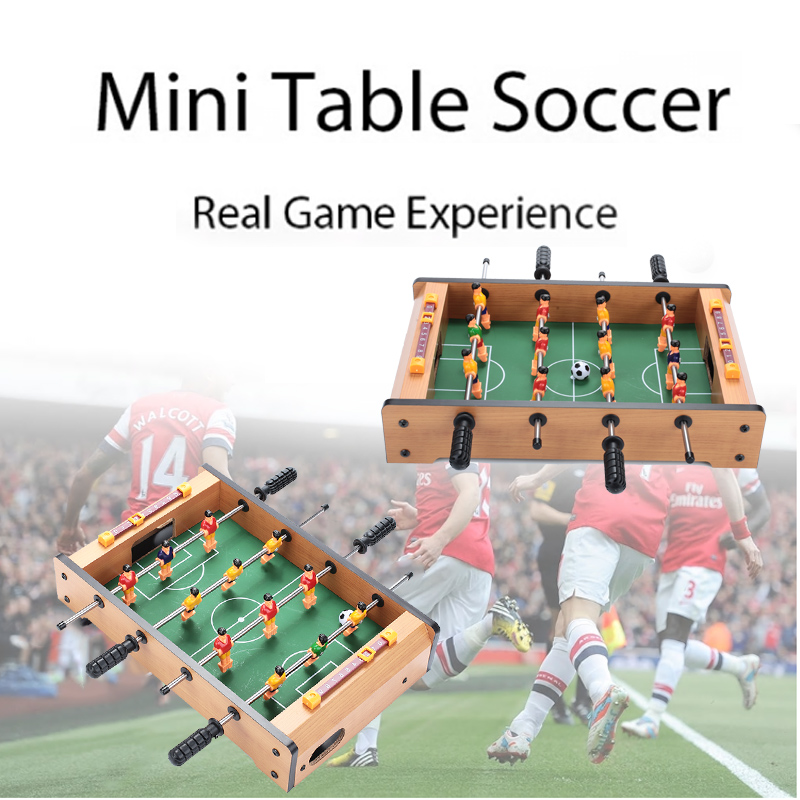 Wood Football Game Table Table Game Indoor Durable Table Football Hobbies Collection Decorate Wood Color Practical