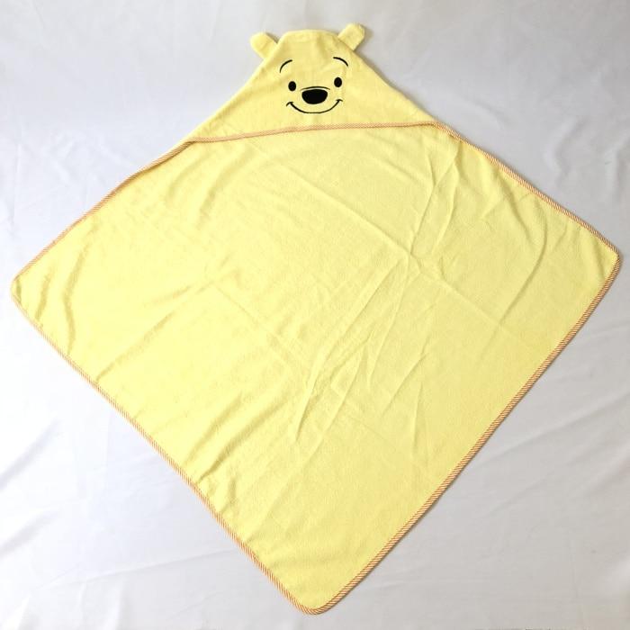 Детское махровое полотенце с капюшоном и изображением животных, халат с изображением животных для малышей, синий От 0 до 6 лет - Цвет: bear