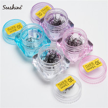 Seashine 3D short stem premade fans loose eyelashes extensions in jar volume Knot with Cluster Eyelashes Private Label