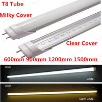 Светодиодные трубки T8 2ft 3ft 4ft 5ft LED Light Tube энергосберегающие заменить люминесцентные лампы 85-265 В теплый/холодный белый 100 шт. DHL/FedEx Бесплатная