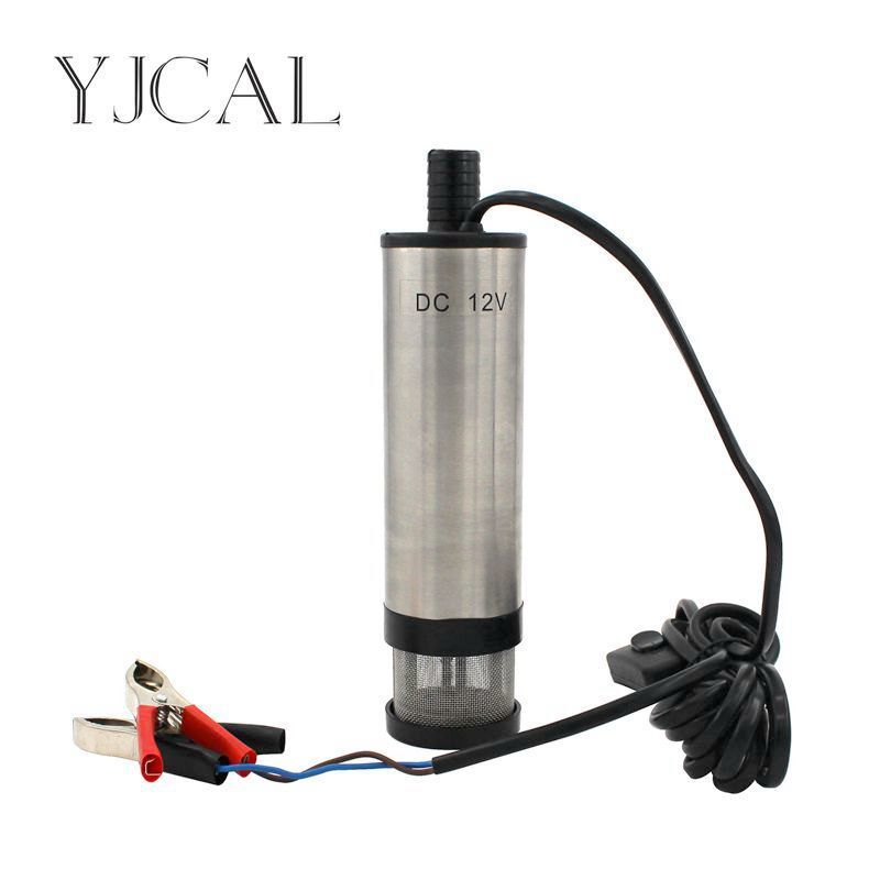 Car Electric Submersible Pump Diameter 51MM DC 12V 24V Motor Suction Oil Water Disel Pump Stainless Steel Band Strainer 51mm dc 12v water oil diesel fuel transfer pump submersible pump scar camping fishing submersible switch stainless steel