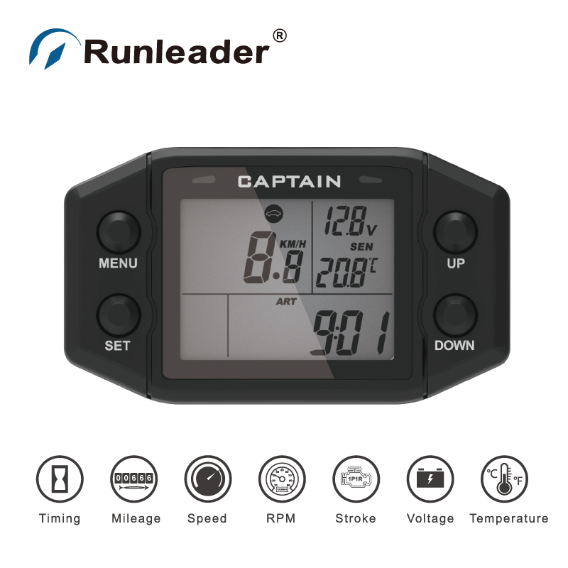 Runleader Multi-Functional Meter Digital Hour Meter Chainsaw Tachometer Bike Thermometer Motorcycle Voltmeter Car OdometerRunleader Multi-Functional Meter Digital Hour Meter Chainsaw Tachometer Bike Thermometer Motorcycle Voltmeter Car Odometer