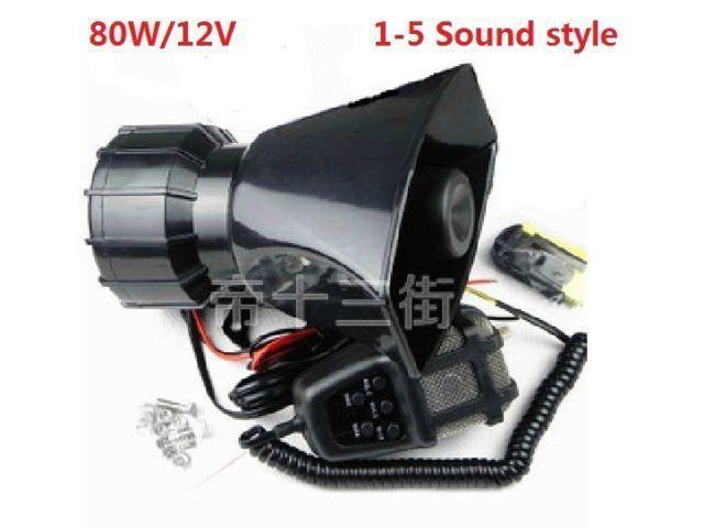12V 80W Alarm car motorcycle loudspeaker horn loudspeaker   speaker auto supplies alarm siren