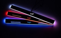 EOsuns Customized LED Moving Door Scuff Door Sill Light Overlays Linings For Toyota Sequoia Tundra TRD