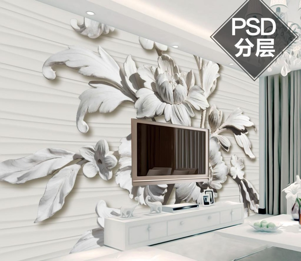 online get cheap flowers wall murals aliexpress com alibaba group european luxury wallpaper for living room berief fashion embossed flowers 3d wall murals living room bedroom