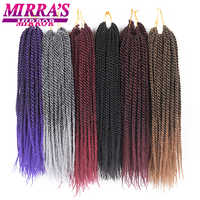 """Mirra's Mirror 30 racines sénégalaises torsion cheveux Crochet synthétique tressage cheveux Ombre Crochet tresse cheveux Extensions 14 """"16"""" 18 """"20"""" 22"""""""