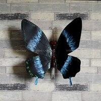 Гибкая Творческий Бабочка бра подкладке довольно металлический регулируемый настенный светильник для гостиной спальня прихожая wall art decor