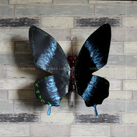 flexible creative butterfly wall lamp interior pretty metal adjustable wall lamp for living room bedroom hallway wall art decor