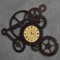 Настенные часы железные ретро декоративные настенные часы большой художественный механизм дома креативные римские цифры часы для гостино