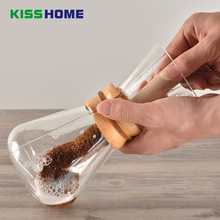 Coconut Fiber Coffee Cups Cleaning Brush Beech Long Handle Brushes No Dead Ends Clean Kitchen Household Accessories