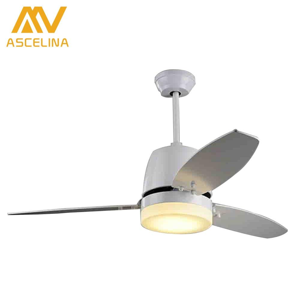 ASCELINA Ceiling <font><b>Fan</b></font> With LED Lights Dining Room Cooling <font><b>Fans</b></font> Ventilador de teto 3 Blades Remote Speeding Lighting Fixtures