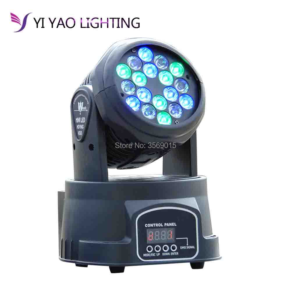 Professional DMX-512 Beam Mini Moving Head Light 18x3w Disco KTV Club Party LED Stage