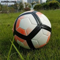 Горячая 2018 Размер 5 бесшовные ПУ футбольная лига мяч противоскользящие гранулы футбольный мяч Высокое качество для игры Матч Обучение