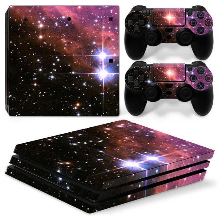 Vinyl Decal Cover Skin Sticker For PS4 PRO controller and console