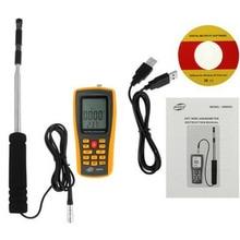 С сумка GM8903 анемометр спидометр анемометр скорость ветра GaugeTemperature мера USB интерфейс