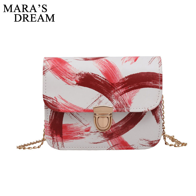 Mara's Dream PU Leather Mini Women Crossbody Bag Chain Women's Handbag Messenger Shoulder Bags Ladies Fashion Small Clutches fashion rivet diamonds candy color pu leather female chain shoulder bag handbag purse ladies crossbody mini messenger bag flap