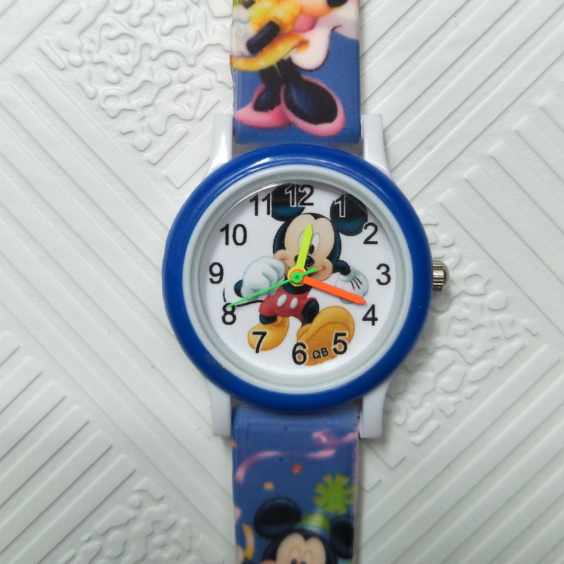 Independent New 2019 Fashion Cool Mickey Cartoon Watch For Children Girls Leather Digital Watches For Kids Boys Christmas Gift Wristwatch Buy One Give One Watches