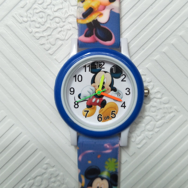 Cool mickey mouse Baby watch for children boys girls Leather Life waterproof dig