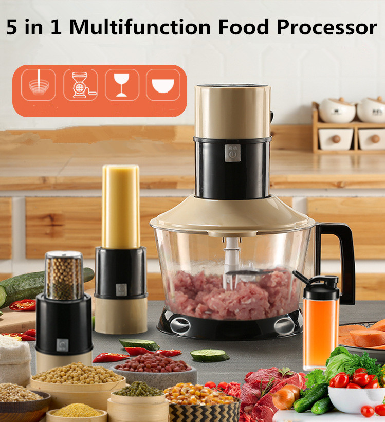 450W Electric Meat Bean Grinder Chopper Cocina Shredder Baby Food Supplement Juicer Household Food Processor Kitchen Tool household 2l electric kitchen chopper shredder food chopper meat grinder stainless steel electric processor kitchen tool cocina