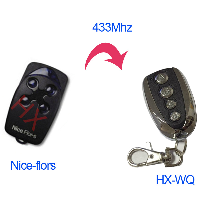Duplicator Nice Flor-s 433.92mhz rolling code remote control for garage door with battery