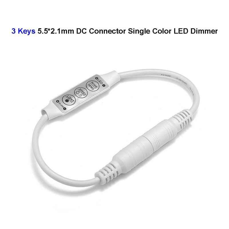 DC 12 V 24 V 6A البسيطة LED باهتة DC موصل ل 3528 5050 مصباح أحادي اللون جامدة قطاع وحدات المصباح الكهربي الإضاءة