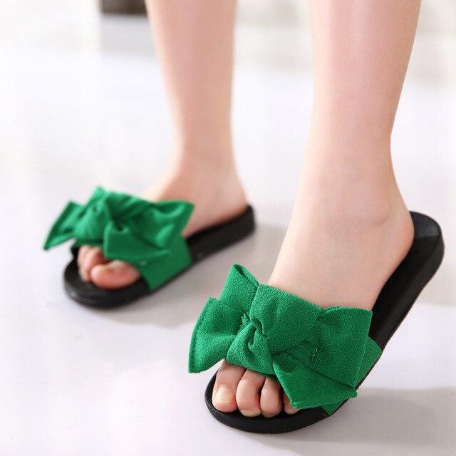 Summer Children Slippers Shoes Kids Girls Cute Sandals Baby Girls Fashion  Slipper Princess Slippery Soft Bottom Beach Shoes 630427dd99fc