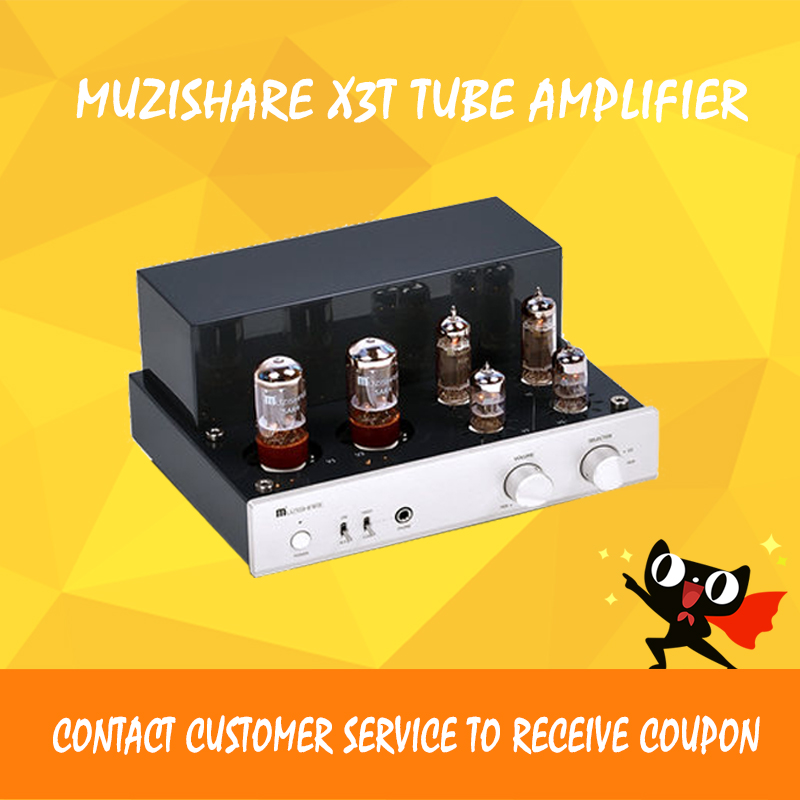 MUZISHARE X3T tube amplifier EL84 vacuum tube preamplifier desktop power amplifier Class a amplifier belton vacuum tube retainer spring type for el84