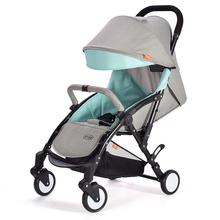 цены на Free shipping New Small Baby Stroller Can Sit Lie-down Baby Cart Portable  folding shockproof aluminum alloy With Breathable  в интернет-магазинах