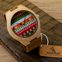 Christmas Style Bamboo Wood Watches