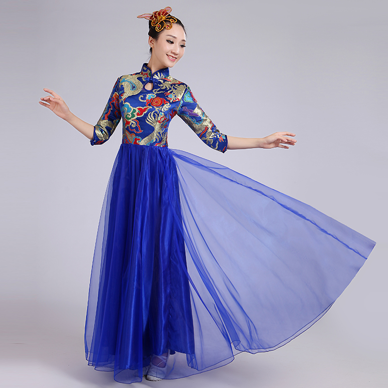 2018 new folk dance costumes classical woman traditional russian costume chinese for kids dance children girls national