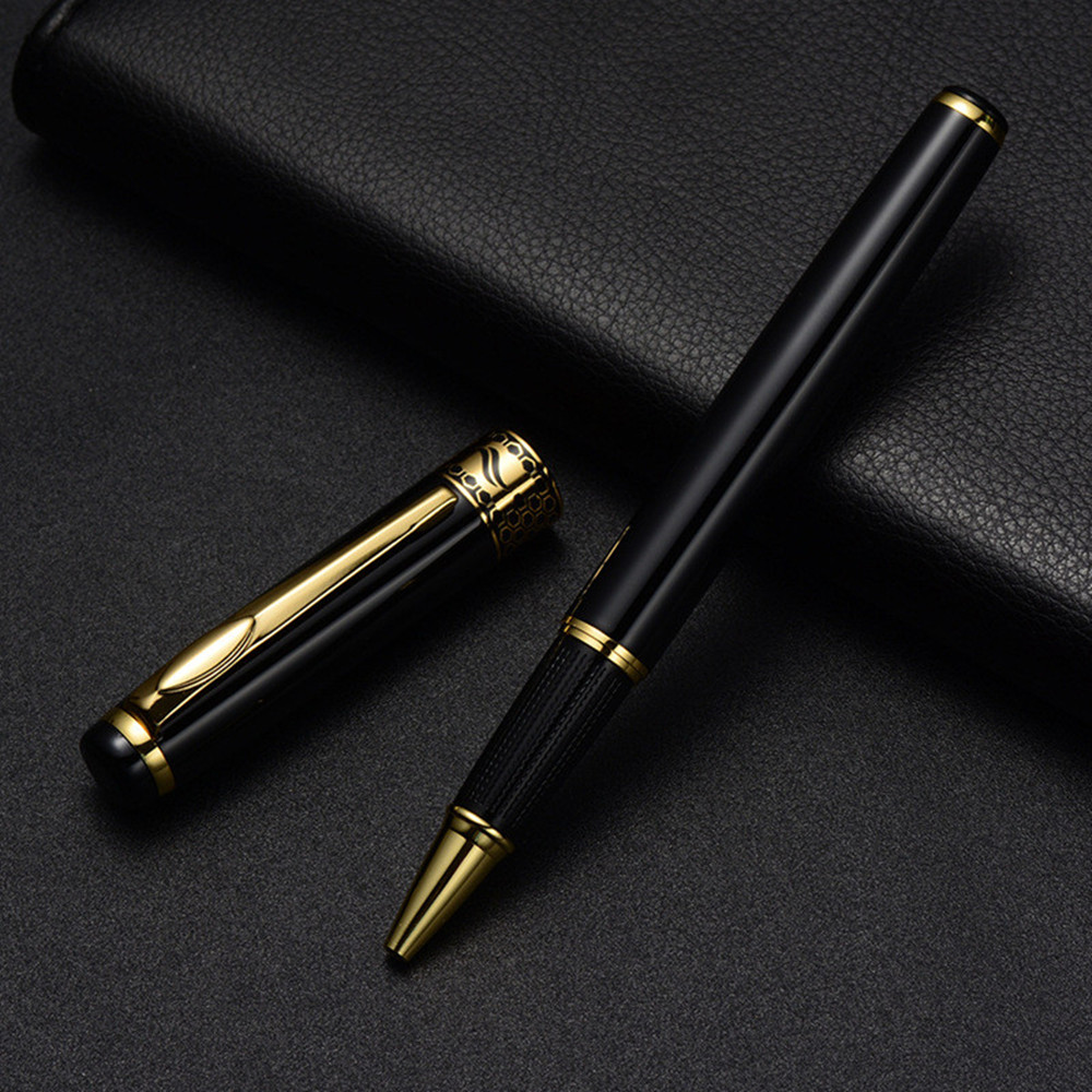 Black Golden Metal Gel Pen Better Than Parker Pens the Office & School Supplies Stationery Signature Gel Ink Pen Roller Ball Pen 3pcs schneider topball 845 gel ink pen roller ball pen sign pen student exam 0 3mm black blue red office and school supplies