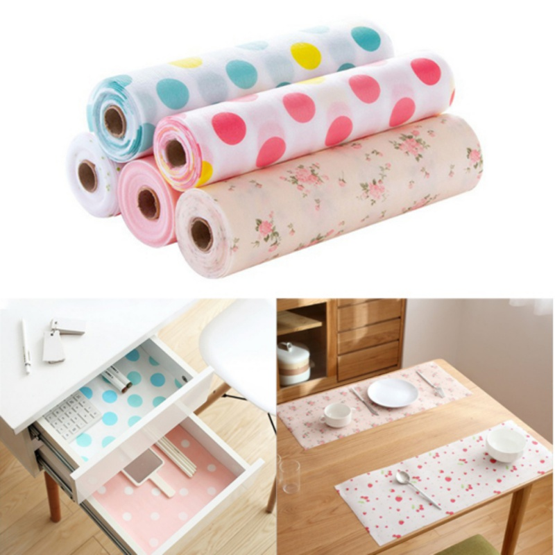 Hot Waterproof Plastic Paper For Wardrobe Mat Drawer Cabnet Pad For Kitchen Cleaning Home Decoration Desk/Table Mats Decor