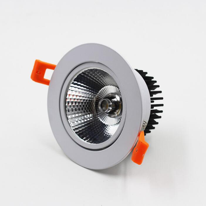 Dimmable LED Downlight 10W 15W 85 265V COB LED DownLights Dimmable COB Spot Recessed Down light Light Bulb free shipping in Downlights from Lights Lighting