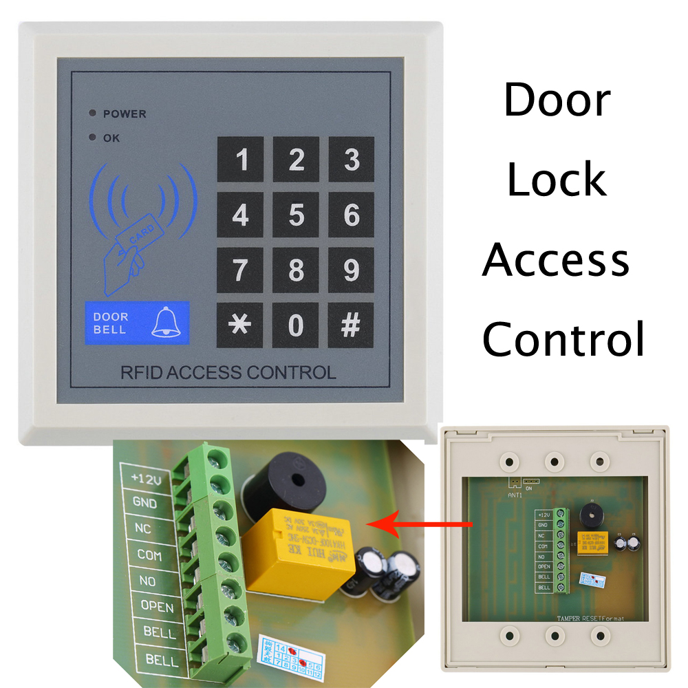 2016 NEW Electronic RFID Proximity Entry Door Lock Access Control System High Security Card Reader