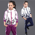 Kids Girls Tracksuits Autumn Winter Children's Girls Sports Clothes Suits Age 4-14 Teen Girls Floral Hoodies+Pant Clothings Sets