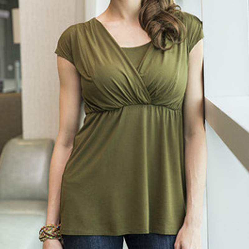 6a8e8a2275ed4 US $11.39 31% OFF|Aliexpress.com : Buy Maternity Clothing Breastfeeding  Nursing Tops Pregnancy Shirt Clothes For Pregnant Women Plus Size Wear  Summer ...