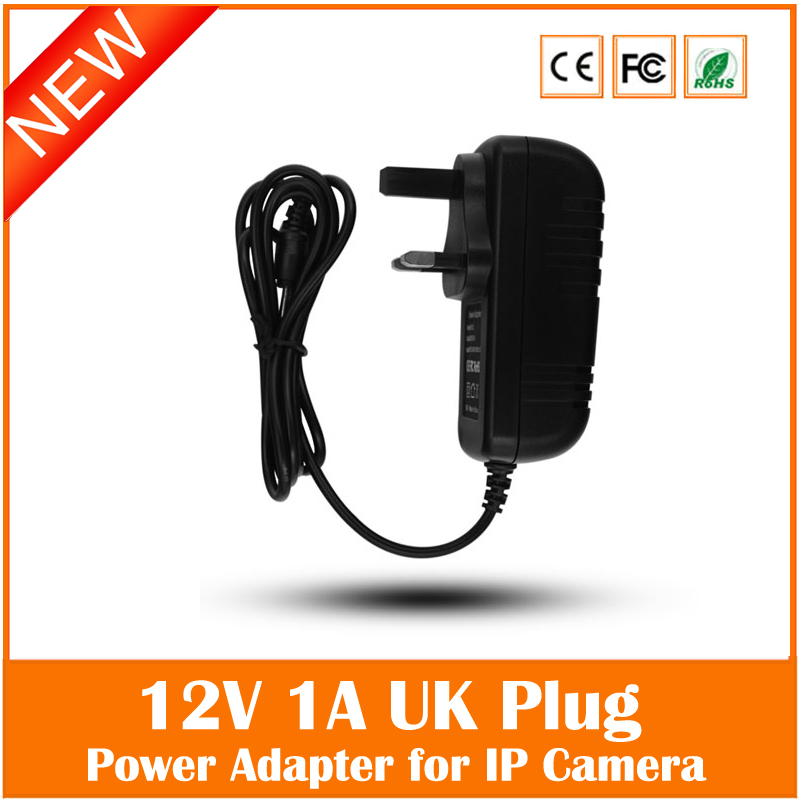 Universal Uk Plug Ac 100v-240v 12v 1a Power Supply Adapter For Security Cctv Ip Camera Led Strip 5.5*2.1mm Freeshipping купить