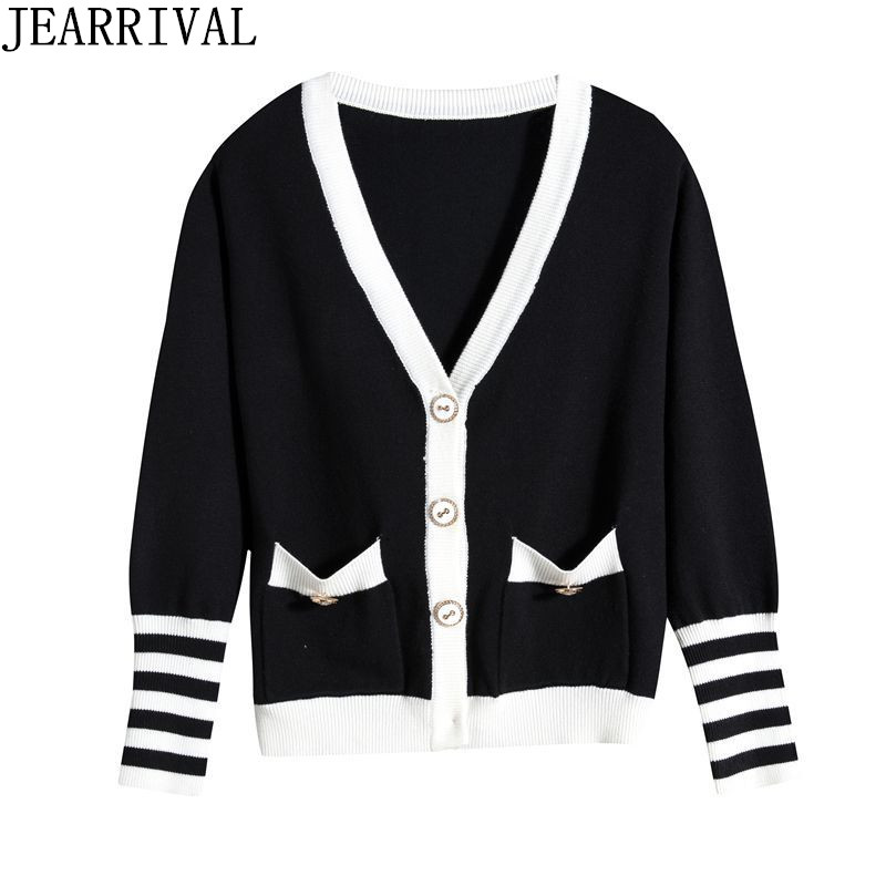 2017 New Women Cardigans Knitted Oversized Sweater Autumn Winter Long Sleeve V-Neck Single Breasted Knitwear Coats Pull Femme