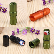 Waterproof Box Case Aluminium Alloy Metal Bottle Outdoor Storage Warehouse Life Tank Outdoor EDC First Aid