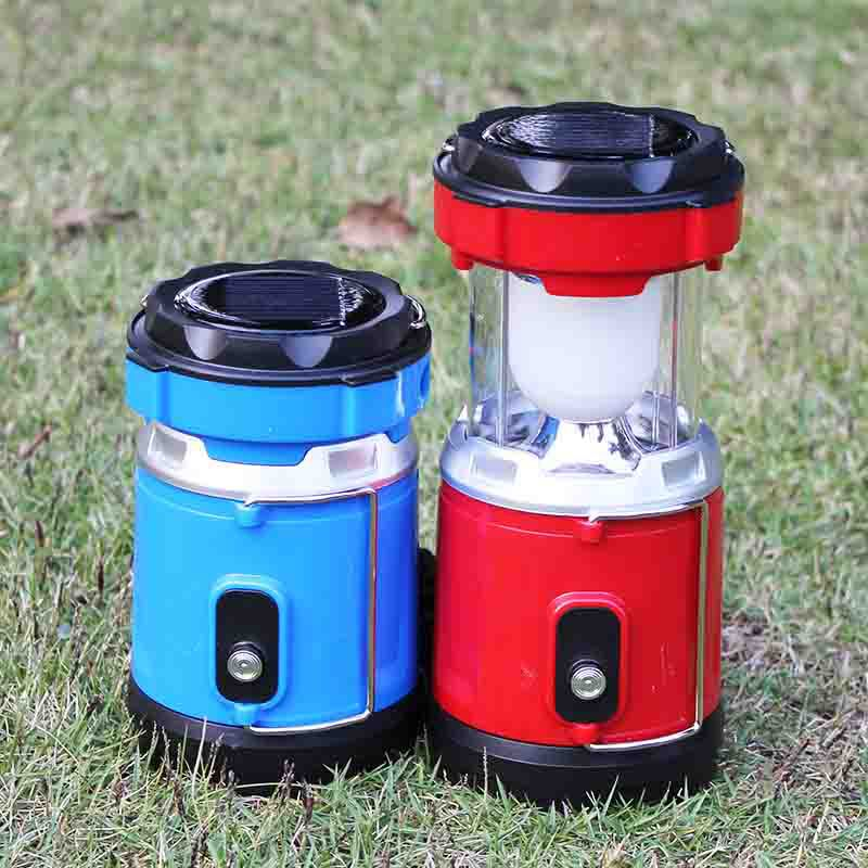 LED Lantern Light USB Solar Camping Lamp For Hiking Emergencies Outdoor Lighting Retractable Outdoor Tent Folding Lamps