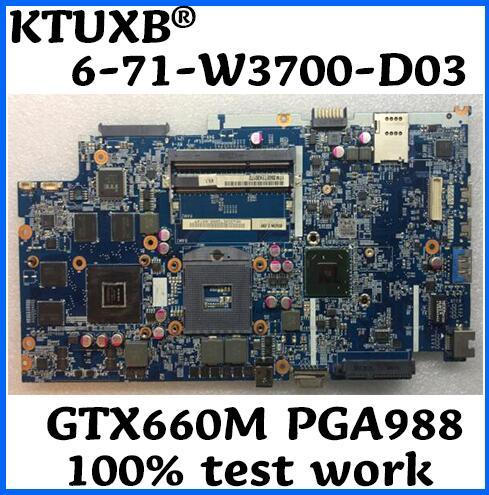 6 71 W3700 D03 for Shenzhou K590S K790S clevo W370ET W350ET Notebook Motherboard PGA988 HM77 GTX660M