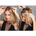 """16 """"-32"""" Polegadas 100g Headband Flip No Cabelo Extensões de Cabelo Humano Auréola Senhora Extensões de Cabelo Trama fácil de Usar"""